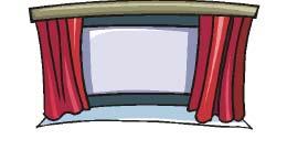 Scène de spectacle avec rideau